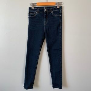Harlow dark wash high rise skinny jeans